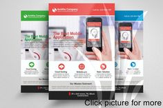 Mobile App Flyer Template Templates Features:Photoshop is used to create this file inches size Inches Bleed CMYK Color by Business Flyers