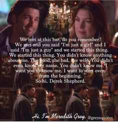 Merder: love Derek in this scene! Greys Anatomy Funny, Greys Anatomy Cast, Grey Anatomy Quotes, Merideth Grey, Meredith And Derek, Grey Quotes, Life Quotes Pictures, Youre My Person, S Quote