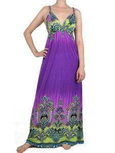 Purple and Green Bohemian Dress.