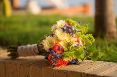 Wedding bouquet. Garden Wedding. Summer wedding bouquet. Colorful bouquet.