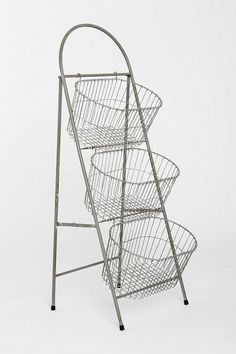 Ladder Storage Basket - I would love to store my active knitting/crochet projects in these!