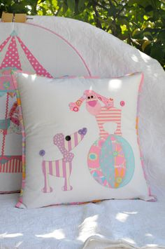 Oodles of Poodles Applique Cushion Pattern by claireturpindesign