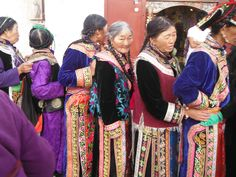 Traditional clothes in Lhasa, Tibet.