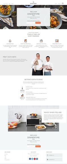 munchery web page example - good landing page elements. clean, simple grids for key points.