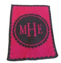 Nursery Monogram Baby Blanket | Perfect keepsake baby blanket