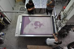 Back to Basics / Huge Silkscreen Print by tind , via Behance
