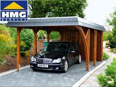 Carport van hout - Wendland