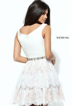 Sherri Hill has the most flattering and fashionable cocktail dresses to spice up your next party! Style 50635 available at WhatchamaCallit Boutique.