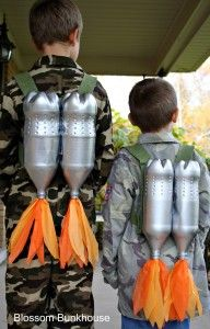 DYI Halloween Jet Packs~  Future Soldiers~