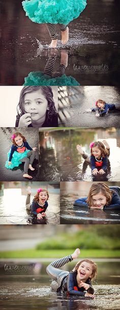 oh my gosh I love these.. kids playing in puddles pictures