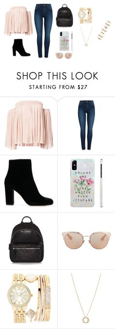 """Sem título #215"" by kau-nunes on Polyvore featuring moda, Elizabeth and James, Pieces, Christian Dior, Jessica Carlyle, Charriol e Forever 21"