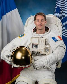 ESA Astronaut Thomas Pesquet of France Expedition 50 Crew | International Space Station Astronaut Thomas Pesquet in a spacesuit (EMU) suit.  Thomas Pesquet's ESA Official Biography: www.esa.int/Our_Activities/Human_Spaceflight/Astronauts/Thomas_Pesquet  Expedition 50/51 Launch: Nov. 15, 2016 Land: May 15, 2017  Crew: Peggy Whitson Oleg Novitskiy Thomas Pesquet  Credit: NASA/JSC/Photographer Bill Stafford Image Date: June 13, 2016