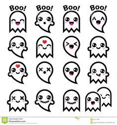 kawaii-cute-ghost-halloween-icons-set-vector-character-isolated-white-44177460.jpg (1300×1390)