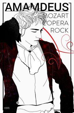 #mikelangeloloconte #mozartloperarock by #photoshop, #illustration