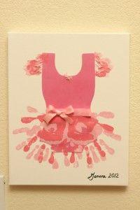 Handprint ballerina tutu on canvas
