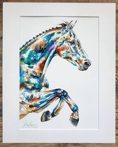 💫 Commissioned contemporary watercolour two of two. Contemporary watercolour with a tropical colour palette. Chloe Brown, Horse Artwork, Tropical Colors, Contemporary Artwork, Equine Art, Watercolour Painting, Pet Portraits, Art Day, Galleries