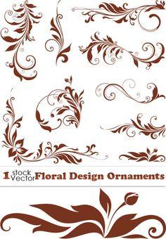 """Векторный орнамент, завитки, цветочный декор Floral Design Ornaments Vector """" Выпускные фотокниги, детские портреты, свадебные ф"""