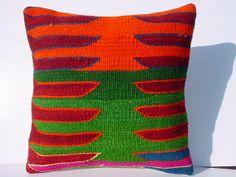 MODERN Bohemian Home DecorHandwoven Turkish Kelim Pillow by sofART, $62.00