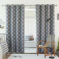 Arrow Room Darkening Grommet Curtain Panel Pair | Overstock™ Shopping - Great Deals on Curtains