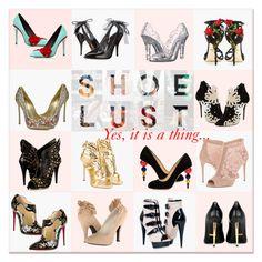 """Shoe Lust: So Many Choices"" by delucia ❤ liked on Polyvore featuring Dolce&Gabbana, Oscar de la Renta, Charlotte Olympia, Roberto Cavalli, Tom Ford, Christian Louboutin, Mojo Moxy, Casadei, Giuseppe Zanotti and shoes"