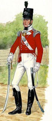 Ufficiale del 43 rgt. fanteria leggera inglese