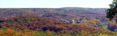 Panoramic view of fall color. State Road D, Camdenton, Missouri