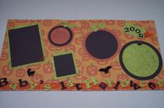 """baby's first halloween scrapbook layout 