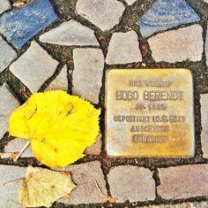 Berlin | 1933-45+. Stolpersteine für Hugo Berendt. Deportiert 10.9.1943. Auschwitz Ermordet.  Berlin 2014.