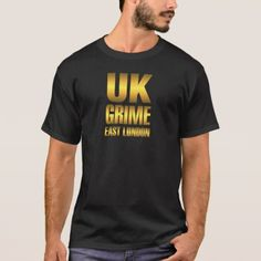 Golden UK Grime Music East London T-Shirt - glam gifts unique diy special glamour