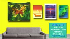 20% off Art Prints, Tapestries, and Posters.  Use code PRETTYWALLS #redbubble #promo #discount #sales #October #homedecor #home #decor #walltapestry #tapestry #artprint #poster #buyposters #buymovieposters #movieposters #movies #cinema #livingroom #livingroomdecor #cinephile #photography #scardesign #buytapestry #gaming #games #butterfly #BreakingBad #sunset #Greece #summer #landspeeder #geek #gifts #giftsforhim #giftsforher #playroom  #kidsroom #mancave