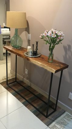 Interior Design Kitchen, Console Table, Industrial Style, Entryway Tables, New Homes, House, Living Room, Wood, Furniture