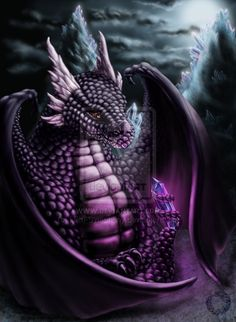 Dragon: Guardian of crystal by ~Lilith-Symphony on deviantART