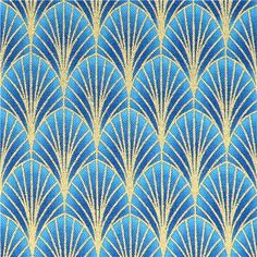 blue scallop leaf fabric Timeless Treasures Dynasty 2