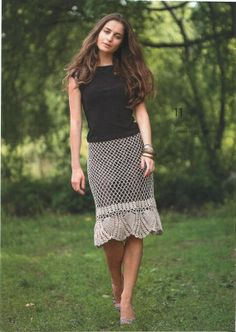Crochetemoda SKIRT ♪ ♪ ... #inspiration #crochet #knit #diy GB
