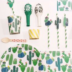 Green party supplies for eco-entertaining, green toys, games, gifts and tableware. at Green Party Goods. First Birthday Parties, Birthday Party Themes, 2nd Birthday, First Birthdays, Birthday Ideas, Cactus Craft, Cactus Decor, Taco Party, Fiesta Party