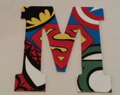 custom super hero letter M by SimplyShabbyByBella on Etsy
