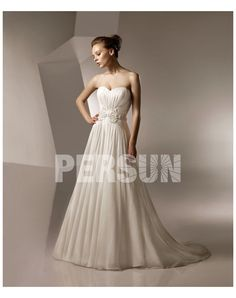Cheap 2012 New Chiffon Strapless Draping Beading Wedding Dress Canada Online Shop