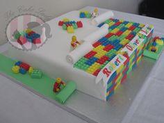 The Lego Cake! - by Gemthecakelady @ CakesDecor.com - cake decorating website