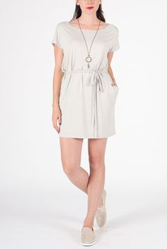 Shop the Piko Belted Shift Dress in Silver online. - Minx - Clothe, Adorn, Empower, Provide