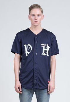Old Timers Light Mesh Baseball Jersey in Navy 490fa8de2
