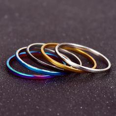 5pcs/Set Colorful Ring Sets Mix