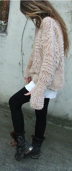 Chunky sweaters for fall .