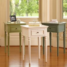 Olive green nightstand. Need a nightstand for my guest room! This would be perfect!