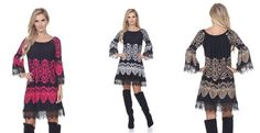 The 'Alta' Printed Bell Sleeve Dress!