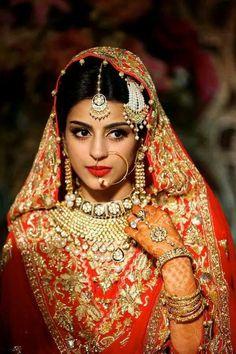 Bangladeshi bride red lehenga zoya moyeen