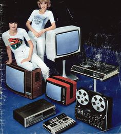 1970s television and hi fi equipment.