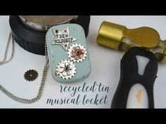 Recycled Altoid Tin Music Box Locket