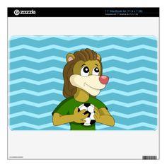 Cute lion cartoon MacBook skin