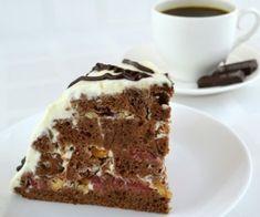 Tort cu cirese si mousse de ciocolata – Savoare si Bun Gust Romanian Desserts, Ukrainian Recipes, Ukrainian Food, Food Cakes, Special Recipes, Tiramisu, Biscuit, Cake Recipes, Sweet Treats