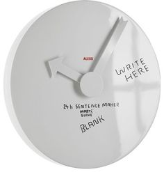 Alessi 'Blank Wall' Clock - modern - clocks - LBC Lighting